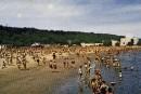 La plage de l'anse au Foulon en 1960