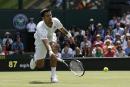 Novak Djokovic réussit son entrée à Wimbledon