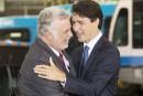 Infrastructures: Trudeau et Couillard annoncent des investissements de 2,5 G $