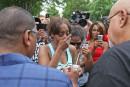 Manifestations et hommages à Saint Paul après la mort d'un Afro-Américain