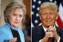 Hillary Clinton et Donald Trump à égalité