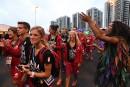 L'équipe canadienne est accueillie dans le village des athlètes