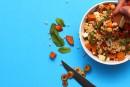 Salade de couscousméditerranéenne