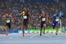Bolt gagne l'or au 100m, le bronze pour De Grasse