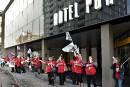 Lock-out à l'Hôtel Pur de Québec: une grève déclenchée
