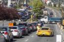 Congestion pour le début des travaux rue Léger
