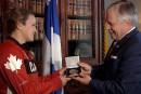 La médaille de l'Assemblée nationale pour Ariane Fortin