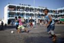 Marche d'enfants palestiniens contre le soccer dans les colonies