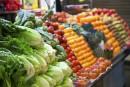 Marketplace with garden truck, vegetables, etc. in Barcelona