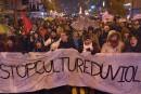Plusieurs centaines de manifestants contre la culture du viol à Québec