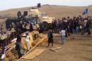 Des manifestants dispersés devant le chantier d'un oléoduc controversé