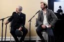 Leonard et son fils Adam Cohen, également chanteur... | 10 novembre 2016