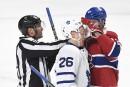 Maple Leafs 1 - Canadien2(score final)