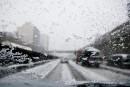 Météo: première neige à l'heure de pointe
