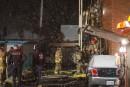 Incendie sur la 8e avenue : un homme subit des brûlures
