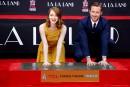 Ryan Gosling et Emma Stone laissent leurs empreintes à Hollywood