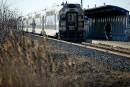 Un train de l'AMT percute une personne à Montréal
