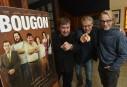 Les vedettes du film<em>Votez Bougon</em>en visite