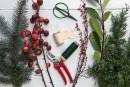 Verdir sa maison pour Noël: le rameau festif