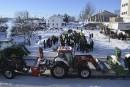 Les agriculteurs manifestent à Saint-Félicien