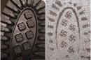 Des souliers aux empreintes en forme de croix gammée