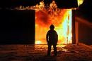 Un incendie a détruit un important bâtiment de ferme à Saint-Majorique, vendredi soir.