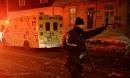 Les policiers ont rapidement bouclé le secteur où est survenue... | 29 janvier 2017