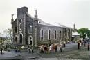 Ruines fumantes de l'église Notre-Dame-de-Foy à Ste-Foy, Qu�