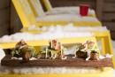 Canapés crevettes, miel et habanero