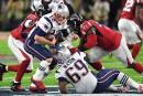 Patriots 34 - Falcons 28 (score final)
