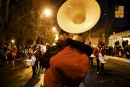 Le tambour-major des Éclairs Jérémie Forgues, qui partage la tâche... | 11 février 2017
