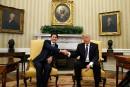 Le premier ministre canadien Justin Trudeau s'est rendu à Washington le 13février pour rencontrer le président américain Donald Trump.