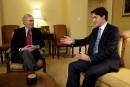 M.Trudeau a aussi discuté avec le leader de la majorité... | 13 février 2017