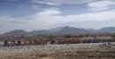 Le peloton de cyclistes lors de la première épreuve de... | 14 février 2017
