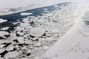 Le<i>Rio Tamara</i>libéré des glaces de la rivière Saguenay
