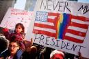 Les anti-Trump manifestent pour le Jour des présidents