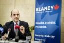 Gestion de l'offre: Blaney rejette la position de Bernier