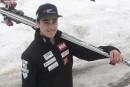 Simon Fournier skiera en Suède