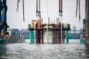 Infrastructures: le nouveau pont Champlain devient visible
