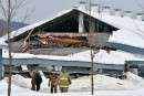 Effondrement d'un bâtiment de ferme à Saint-Tite