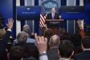 Des médias exclus d'un point de presse de la Maison-Blanche