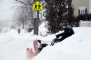 À hauteur de banc de neige