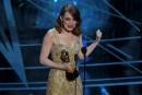 Emma Stone a été sacrée meilleure actrice pour le film... | 27 février 2017