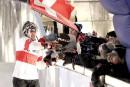 Jim De Paoli célèbre sa troisième place.... | 4 mars 2017
