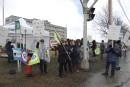 Les employés du CIUSSS à Lac-Mégantic manifestent contre le stationnement payant