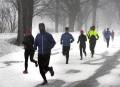 La neige n'a pas empêché ces coureurs de s'entraîner.... | 14 mars 2017