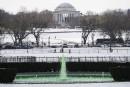 La fontaine de la Maison-Blanche est colorée verte pour souligner... | 16 mars 2017