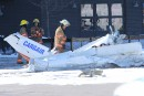 Deux petits aéronefs sont entrés en collision et se sont écrasés aux Promenades Saint-Bruno, vendredi midi.