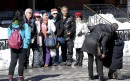 Au passage duSoleilsur la Grande Allée dimanche, les spectateurs venaient... | 19 mars 2017