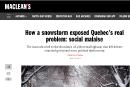 L'auteur d'un article sur le Québec dans <em>Maclean's</em> s'excuse